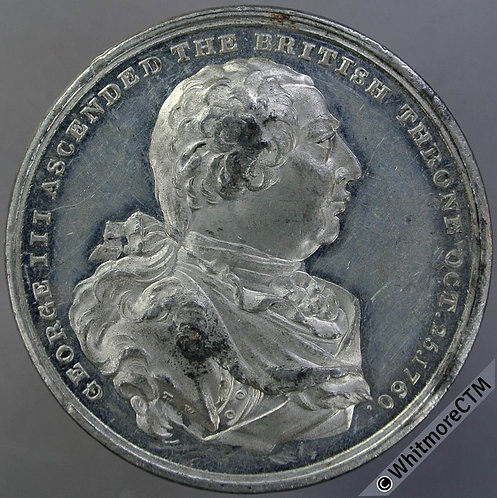 1820 Death of George III Medal 40mm B1001 By T.Wyon. W.M.