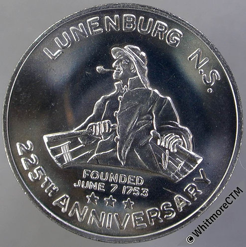 Canada 1978 Lunenburg Nova Scotia Medal 32mm 225th Anniversary. Cupro-nickel