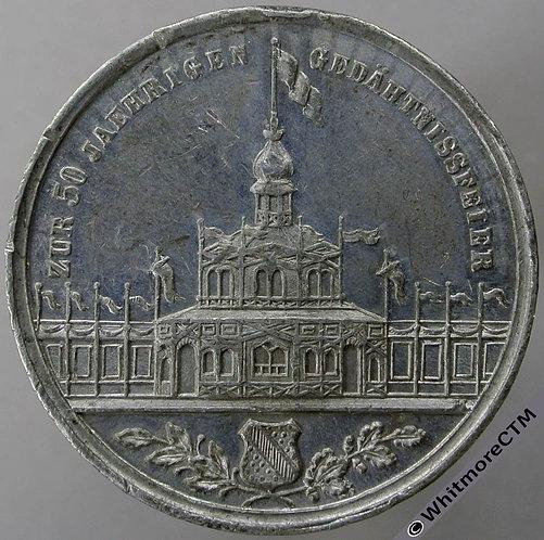 1869 Germany Carlsruhe 50th Anniversary Festival Medal 37mm Karlsruhe