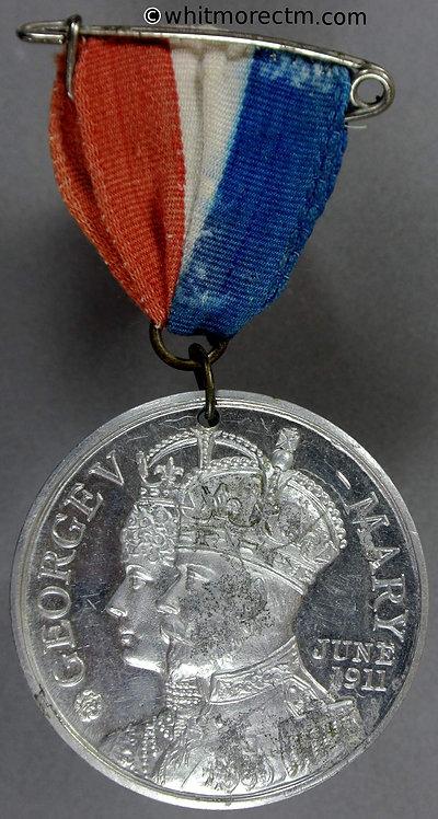 Chipping Norton 1911 Coronation Medal 38mm George V Aluminium WE5097F