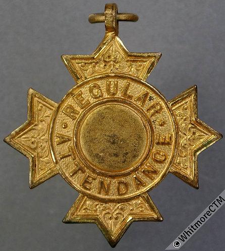Regular attendance School Medal 31mm As D2370 but in gilt bronze