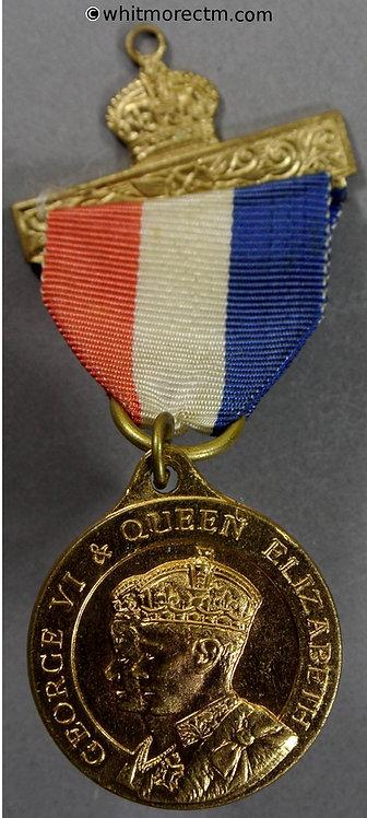 1937 Coronation of King George VI Medal obv 26mm WE7331A1 Gilt bronze