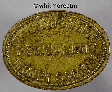 Winson Green Refreshment token Permanent Money Society 27x20mm Oval copper