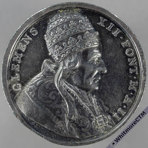 Italy Relieving of the Ancona taxes by Pope Clement XII Medal 32mm By Hamerani