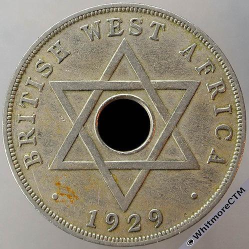 1929 British West Africa Penny Y9 - Rare
