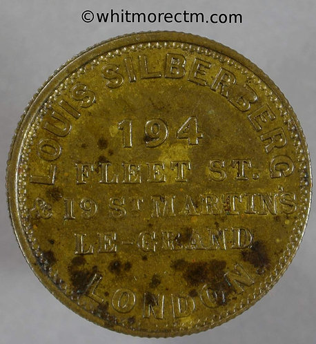 Unofficial Farthing London 2800a Louis Silberberg 194 Fleet St & 19 St Martins