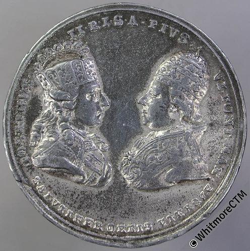 1782 Austria Visit of Pope Pius VI to Vienna Medal 41mm Joseph II . WM