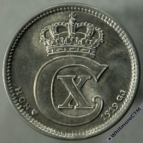 1919 Denmark 10 Ǿre obv - Y36