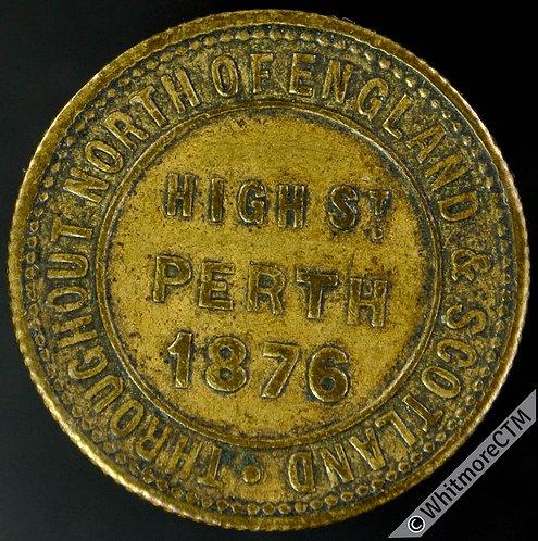 Bonus Token Perth 22mm 1876 ¼lb check.  London & Newcastle Tea Co. Brass