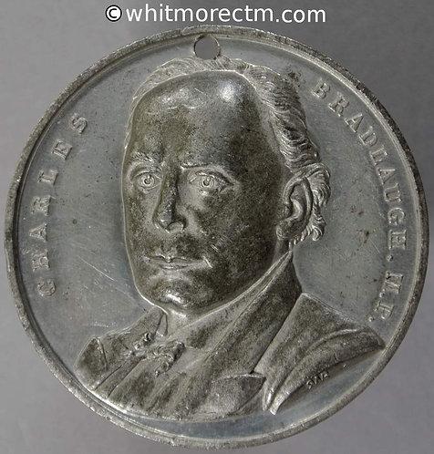 Northampton 1885 Charles Bradlaugh M.P Medal 42mm B3184 Very Rare