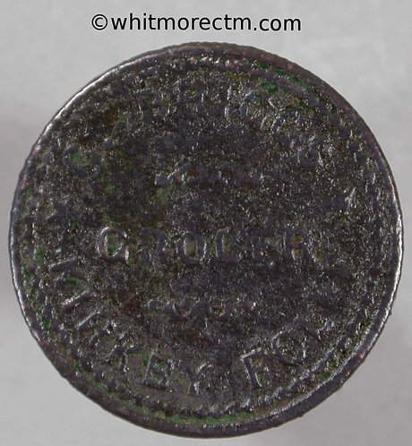 Bonus Token Kirkby Folly ( Kirkby-in-Ashfield Notts ) 22mm G.Biggs Grocer / £1 - obv