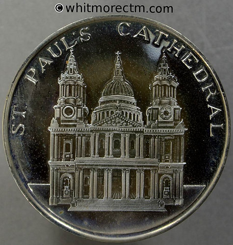 Sir Christopher Wren St.Paul's Cathedral (1723) Medal 38mm Cupro-nickel proof