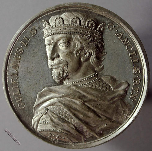 William II B1437-2 Draped bust in coronet. By Thomason after Dassier White metal