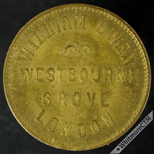 Unofficial Farthing London 2719 William Owen.  Westbourne Grove.  / Franz Joseph