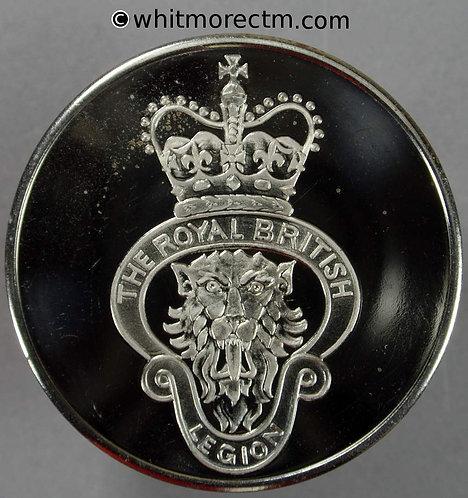 1981 Diamond Jubilee of Royal British Legion Medal 44mm crown lion Crossed flags