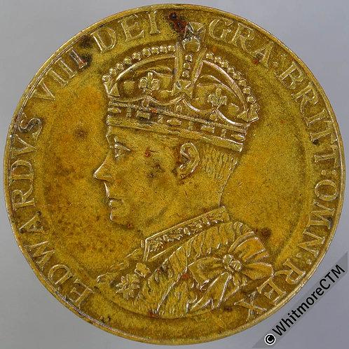 1937 Intended Coronation Medal Edward VIII WE6660A3 35mm Gilt bronze.