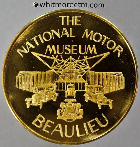 National Motor Museum Beaulieu Medal 38mm Gilt bronze. Proof about FDC
