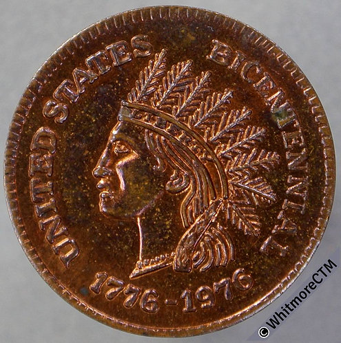 USA 1976 San Francisco bicentennial J. J. C. Coin & Stamp Medal 20mm 80% Luster