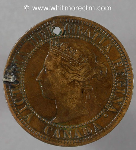 Canada Engraved Coin One Cent 1876 - 1901 - WMM 8/25/93