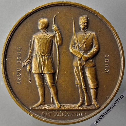 1957 The National Rifle Association Medal 48mm Bronze. Edge Miss J.J.Caulton