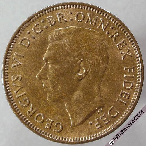 1952 British Halfpenny George VI - 20% Luster