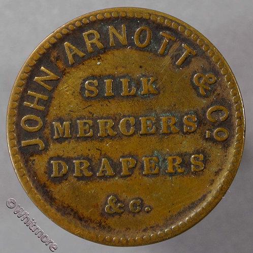 Unofficial Farthing Belfast 5360 John Arnott & Co. Silk mercer