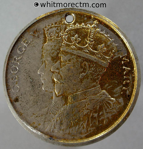 Acton 1911 George V Coronation Medal 35mm WE5125B Gilt bronze