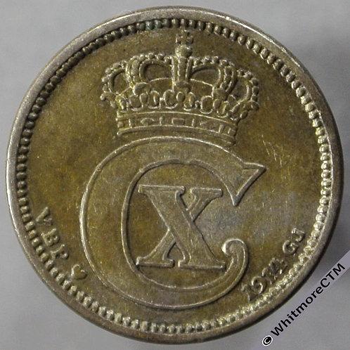 1914 Denmark 10 Ǿre - obv