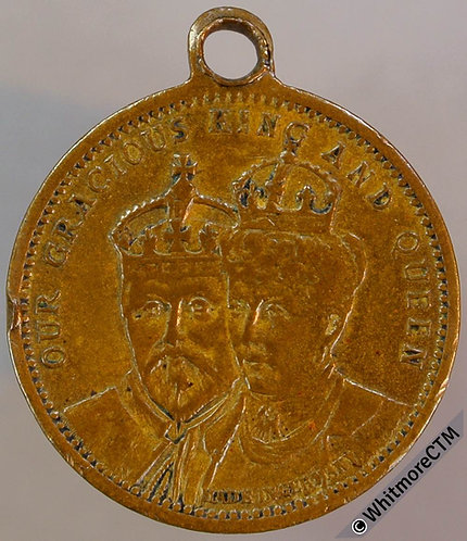 1902 Edward VII Coronation Medal 22mm WE4362 Brass with suspender
