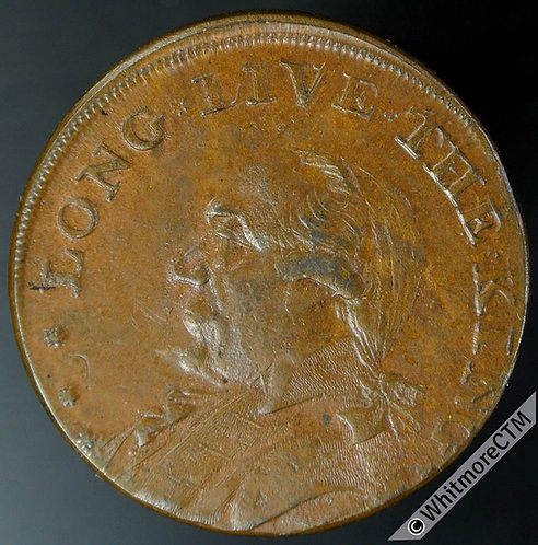 18th Century Halfpenny Middlesex 911b 1795 Long Live the King - Lustre Trace