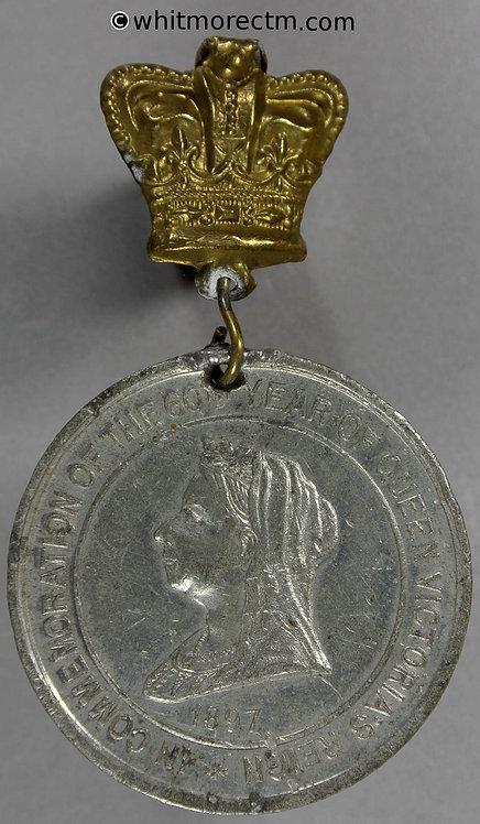 1897 In commemoration Queen Victoria Diamond Jubilee Medal 38mm WE3342