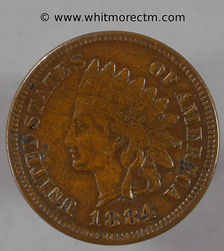 1884 USA One Cent coin Indian Head