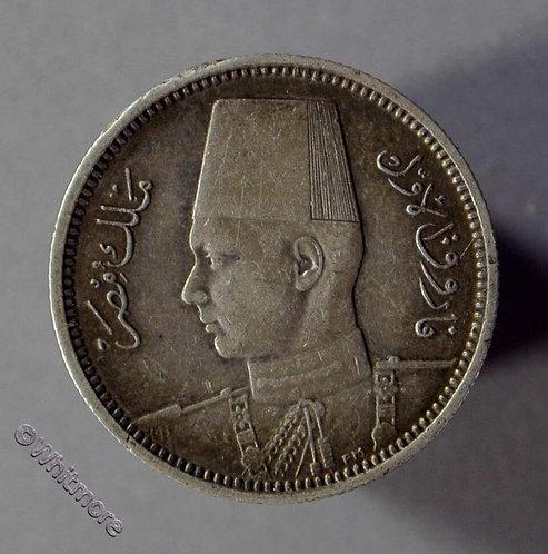 1937 Egypt 2 Piastres coin - Y83