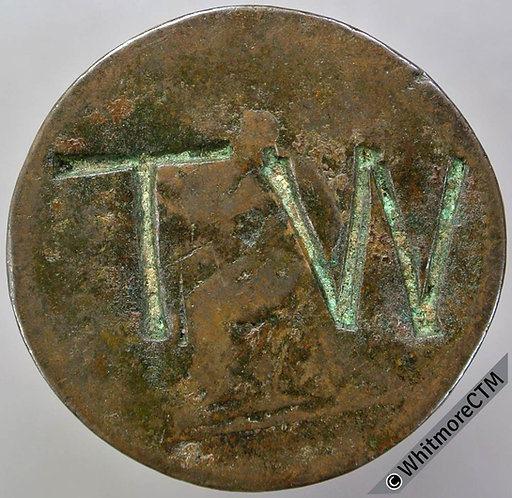 1806 Half-Penny. Crudely Countermarked TW