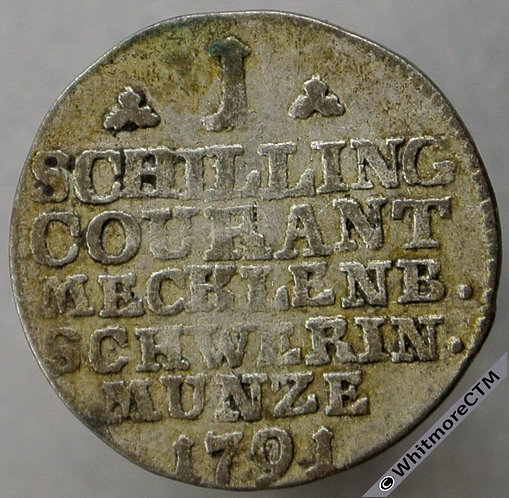 1791 Germany Mecklenburg-Schwerin 1 Schilling C61