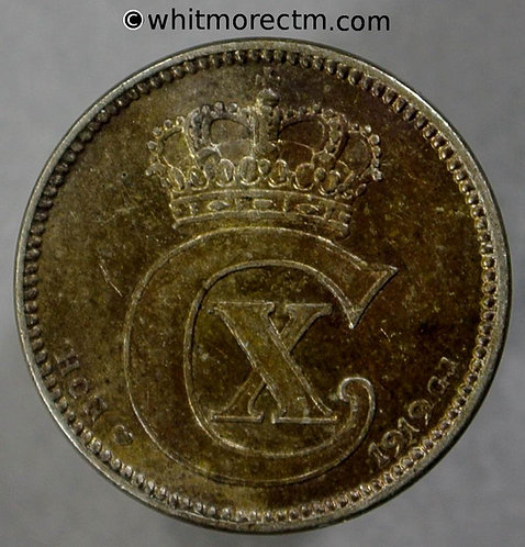 1919 Denmark 25 Ǿre coin
