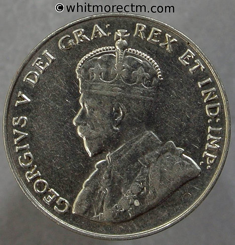 1932 Canada Five Cents coin - Nickel