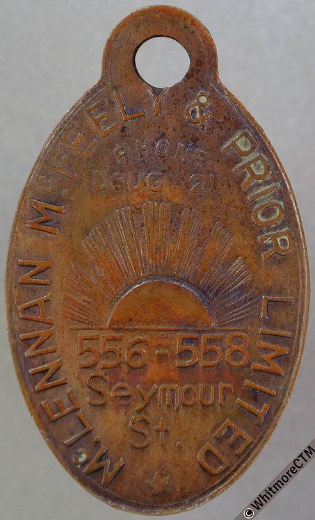 Canada Vancouver Token 41x24mm McLennan McFeeley & Prior Ltd. bronze