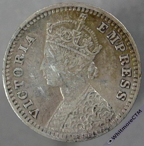 1891B India Two Annas S&W 6.409 obv