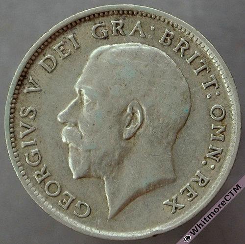 1912 British Sixpence George V