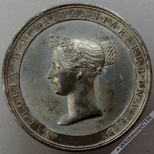 1838 Victoria Coronation Medal 65mm B1807 By J. Davis White Metal. Rare
