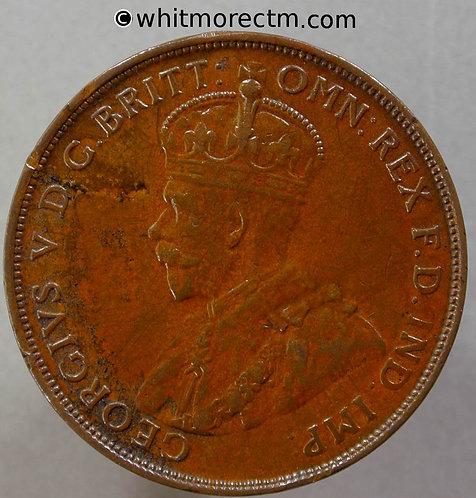 1924 Australia Penny obv -Y6