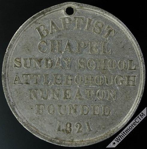 1871 Attleborough Nuneaton Golden Jubilee Baptist Sunday School Medal 38mm WM