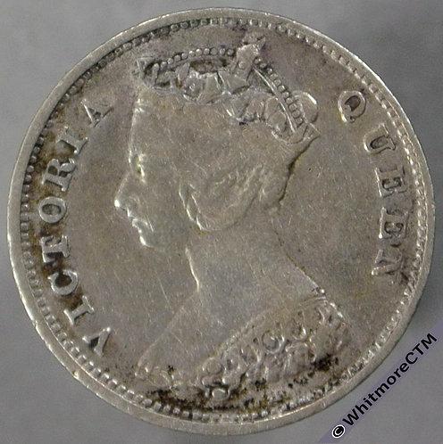 1900H Hong Kong 10 Cent Y4 - obv
