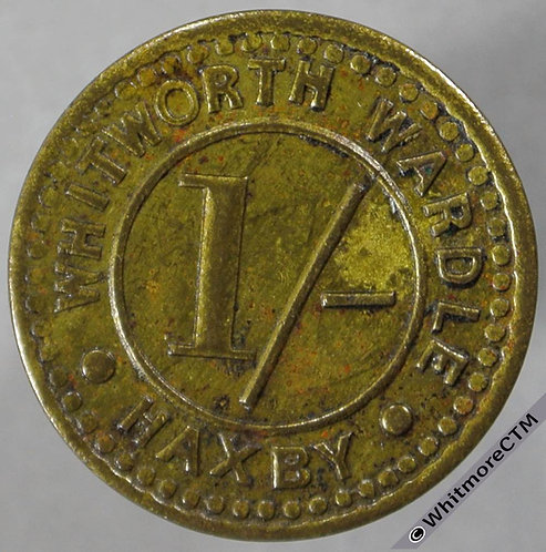 Bonus Token Haxby (York) 19mm Whitworth Wardle 1/- Circles - Brass