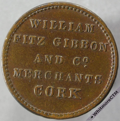 Unofficial Farthing Cork 5740 Wm.Fitz Gibbon & Co (both sides)