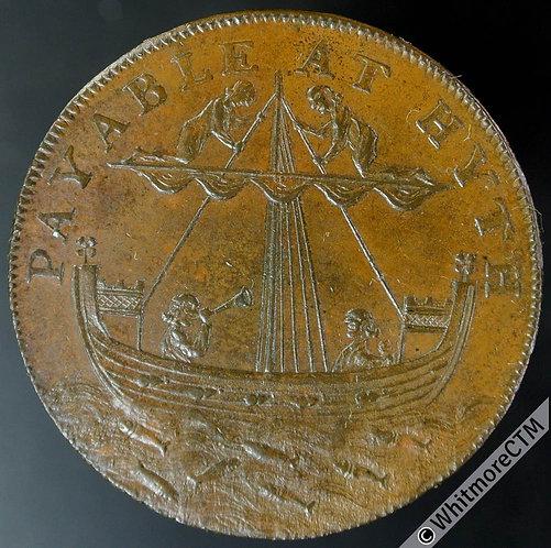 18th Century Halfpenny Hythe 31 1794 Cinque Port Arms. Shipden's edge.