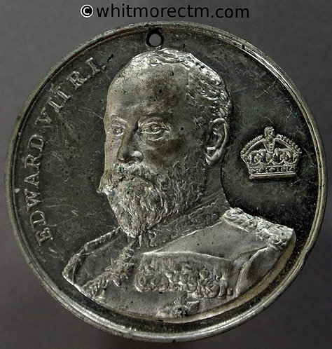 Edward VII Medal 39mm Monarch's names William I to Victoria radiating W.M.