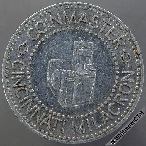 Mints Token Manufacturers Cincinnati Milacron 1975 26mm Coin press.  Aluminium