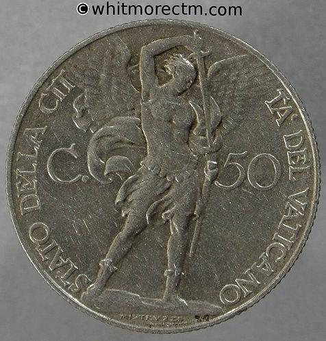 1930 Vatican City 50 Centesimi